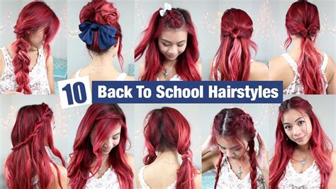 quick and simple back to school hairstyles 10 back to school hairstyles l quick easy hairstyles for