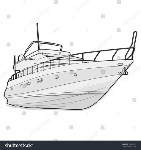 wire black and white boat on white fishing on a ship