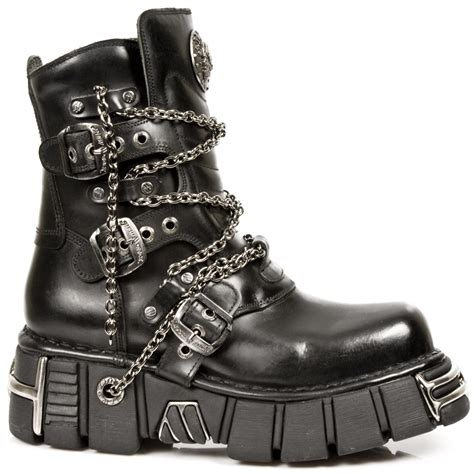 new rock boots m 1011 s1 new rock black leather boots