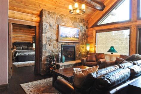 log home living rooms beetle pine log cabin in the woods of colorado