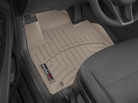 weathertech floor mats floorliner for kia sorento 2016 2017 1st row tan ebay