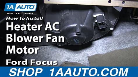 install replace heater ac blower fan motor