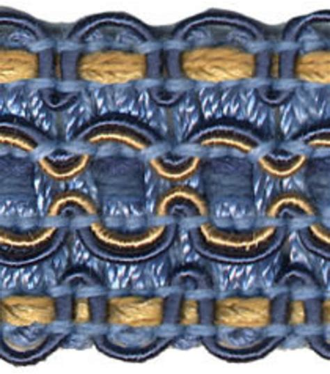 home decor trims home decor trim conso 1 blue yellow braid jo ann
