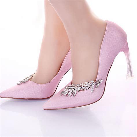 feminine look with pink wedding shoes topup wedding ideas