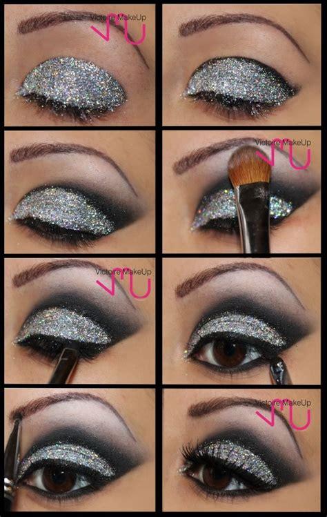 tutorial makeup glitter glitter smokey eye makeup nail hair accesories and