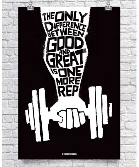 Weight Room Motivational Posters by Difference Between Great Black