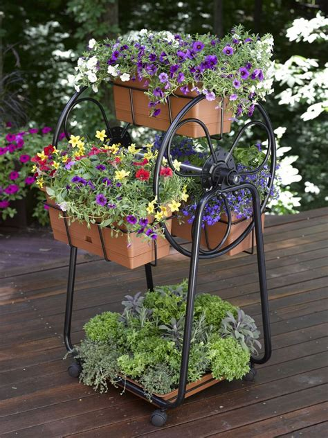 Wheels For Planters by Decorative Planters Ferris Wheel Planter Gardener S