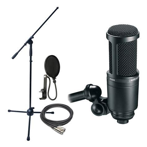 Audio Technica At2020 Cardioid Condenser Studio Microphone audio technica at2020 cardioid condenser mic w stand cable filter 42005134953 ebay