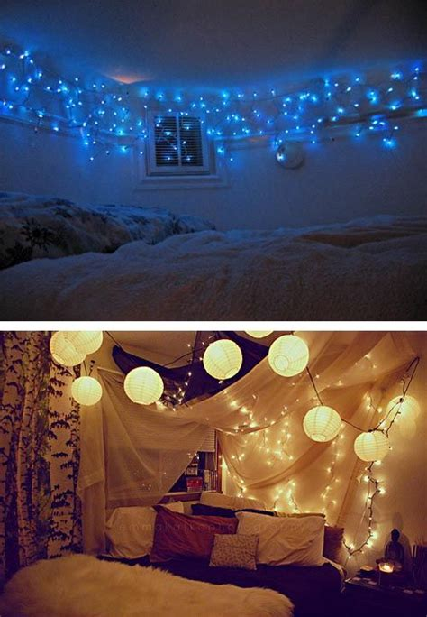 christmas lighting in your bedroom an easy beautiful way
