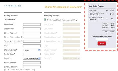 coupon instructions how where to enter promo codes for zagg promo code coupon code