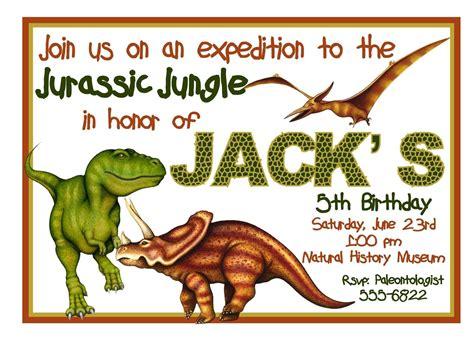 Free Printable Dinosaur Birthday Invitation Dinosaur Birthday Invitation Template