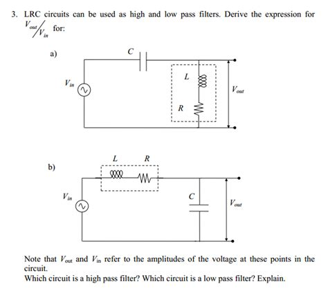 high pass filter vout vin vout vin high pass filter 28 images a construct the circuit shown in figure 4 5 2 whe chegg