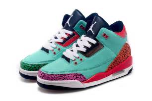 colorful jordans cheap air 3 custom gs new colorful for sale