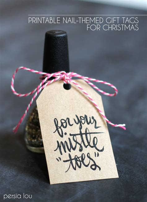 free nail themed printable christmas gift tags persia lou