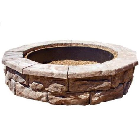 Home Depot Firepits Fossill 60 In Concrete Brown Pit Kit Fsfpb The Home Depot