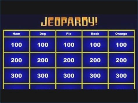 Jeopardy Powerpoint Template With Sound Pontybistrogramercy Com Jeopardy Template Powerpoint With Sound