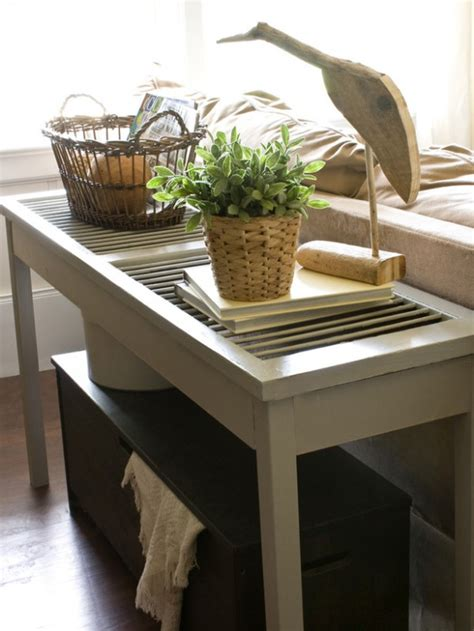 decorating ideas for sofa tables five fun ideas for decorating with shutters rustic