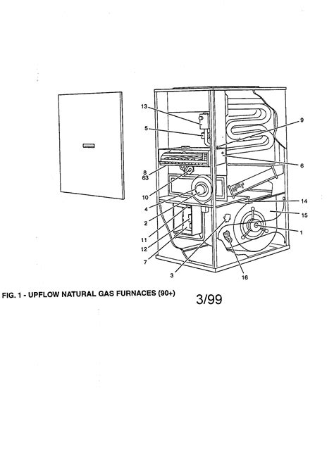 york furnace parts diagram york upflow gas furnace parts model g9t10014upc13