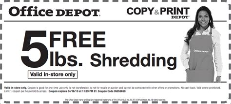 office depot coupons shredder free is my life coupon free document shredding at office