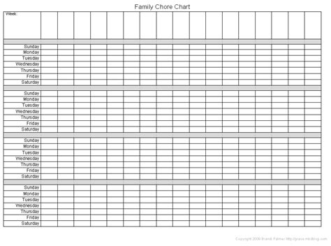 7 best images of blank table chart template free blank
