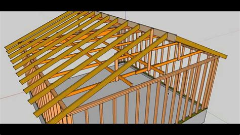 Garage Roof Construction Vertical Garage Roof Bracing And Storage Problems