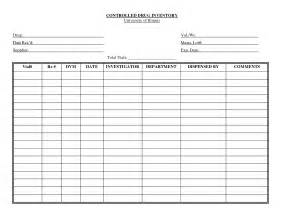 Controlled Log Template by Best Photos Of Medication Inventory List Free Printable