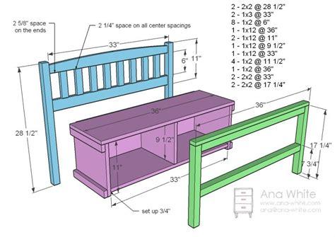 cottage bench  storage cubbies diy storage bench