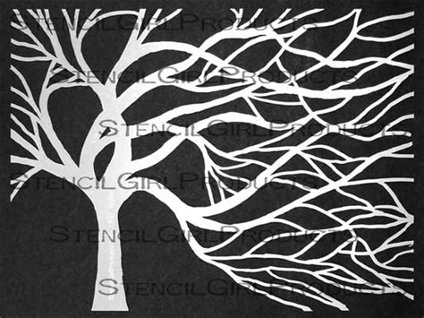Windswept Tree Stencil Cathy Taylor Tree Stencil Template