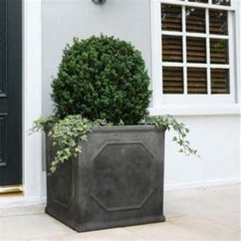 Large Outdoor Planters Napa Home And Garden Large Square Fiberclay Chelsea