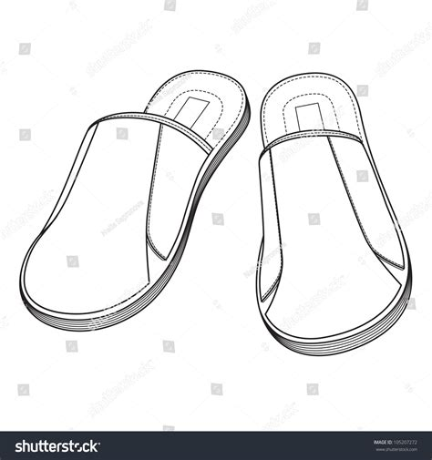 drawing slippers home slippers freehand drawing icon black and white