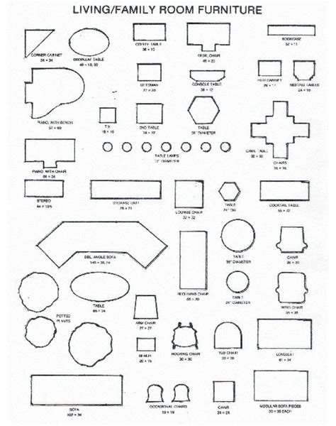 pdf plans free printable furniture templates for floor