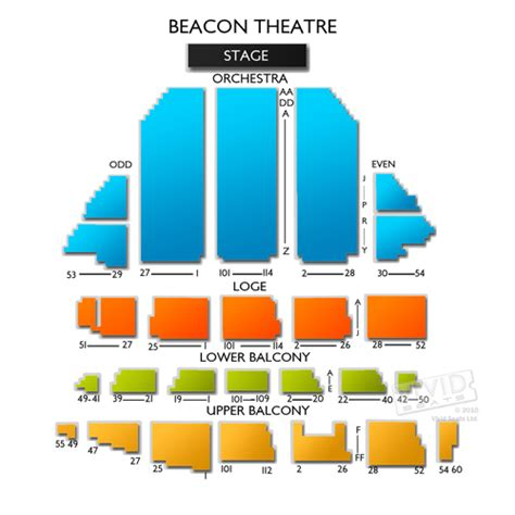 beacon theater seating chart beacon theatre detailed seating chart car interior design