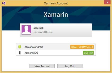 xamarin login tutorial asp net tutorials start app development with xamarin