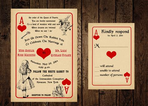 playing card invitation templates