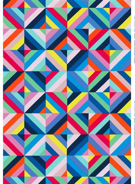 pattern and color inspired by delaunay marimeko print the clever use of