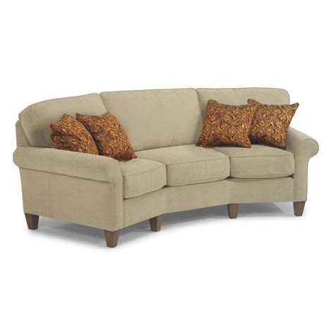 conversation couch flexsteel 5979 323 westside fabric conversation sofa