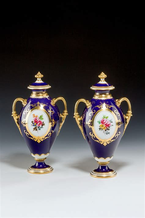 Royal Crown Derby Vases by Antique Pair Royal Crown Derby Vases Richard Gardner