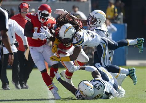 chargers chiefs whicker chargers defense plays well until it has to in