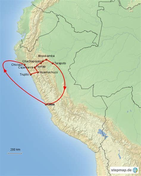 Perahu Karet Boulder by Stepmap Erlebnisreise Nordperu Landkarte F 252 R Peru