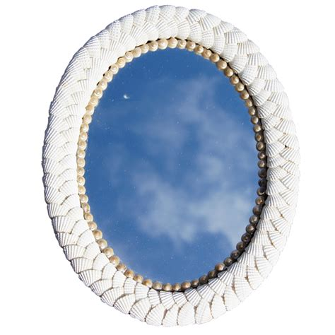shell bathroom mirror shell mirror oval and round mirrors seashell collectibles