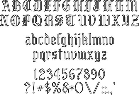 Engravers Old English Engraving Templates Letters