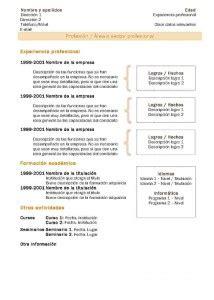Nueva Plantilla De Curriculum Vitae Plantillas De Curr 237 Culum Vitae Hacer Curriculum