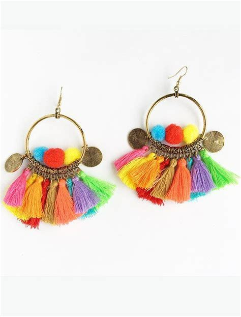 Anting Korea Tassel Handmade Pompom 6 1107 best images about textile jewelry on brooches rope necklace and collars