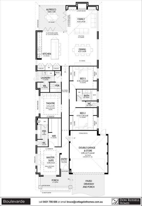 single story narrow lot house plans narrow lot house