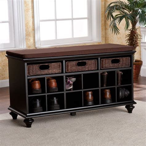 entry hall benches shoe storage bench rattan drawers entryway corridor