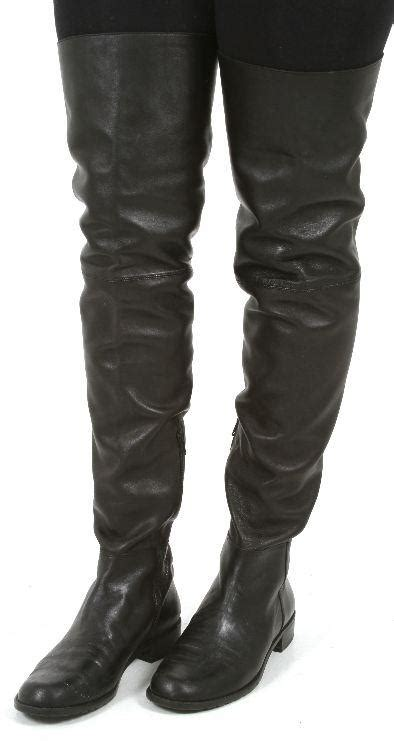ebay leather a deal on used stuart weitzman quot hilo quot thigh