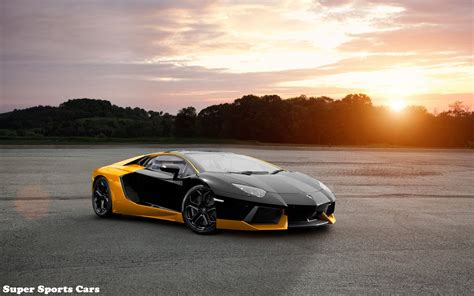 yellow lamborghini aventador black and yellow lamborghini aventador super sports cars