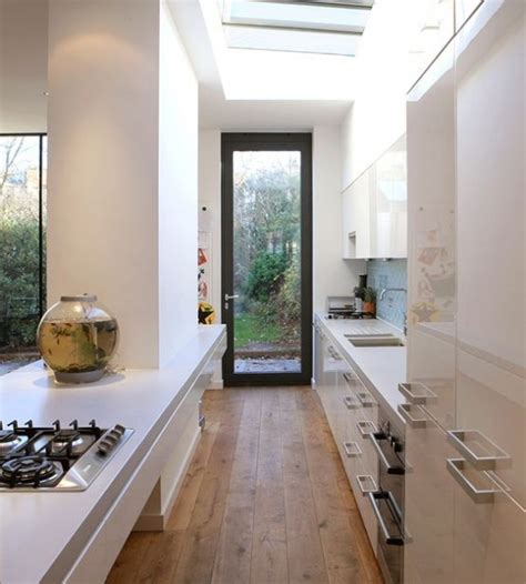galley kitchen extension ideas 31 stylish and functional super narrow kitchen design