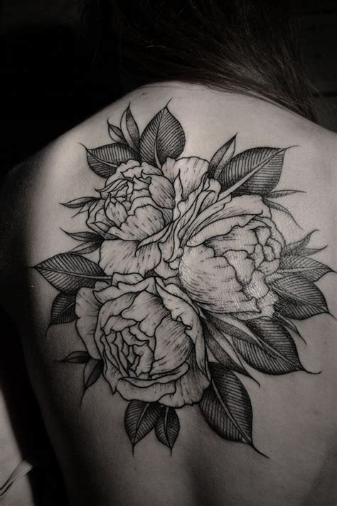peony rose tattoo 60 best floral and plants images on