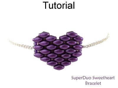 beaded superduo 2 hole bead valentines heart chain 4305 best images about simple bead patterns on pinterest